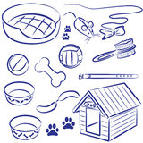 Pet supplies for dogs and cats Royalty Free Stock Photos