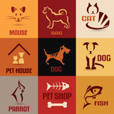 Pet symbol collection Stock Photos