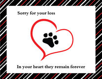 Pet sympathy card Royalty Free Stock Photo