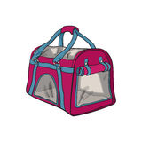 Pet travel fabric carrier, bag for transporting cats and dogs Royalty Free Stock Images