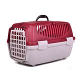 Pet travel plastic cage Stock Photos
