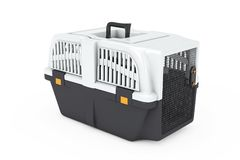 Pet Travel Plastic Cage Carrier Box. 3d Rendering Royalty Free Stock Photography