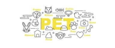 Pet vector banner Stock Photo