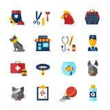 Pet Vet Icons Set Royalty Free Stock Image