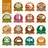 Pet, vet, pet shop icon set Stock Photography