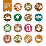 Pet, vet, pet shop icon set. Quality set of icons that can be used on animals Stock Photos