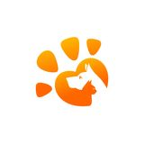 Pet and Veterinarian Logo ,animal lover group Stock Image