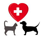 Pet veterinary symbol Stock Images