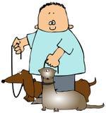 Pet Walking royalty free illustration