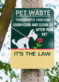 Pet Waste sign. Stock Image