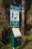 Pet waste sign Royalty Free Stock Photography
