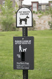 Pet waste station Royalty Free Stock Photography