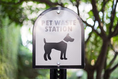 Pet Waste Warning Sign Stock Photography