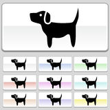 Pet web buttons - Dog. Set of 10 web buttons - dog Stock Image