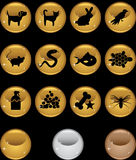 Pet web buttons - Round. Set of 12 pet web buttons - round style Stock Photos