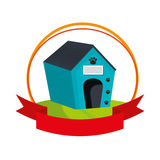 Pet wooden house icon Royalty Free Stock Photography