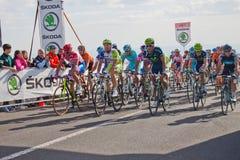 Petacchi e outros ciclistas Imagem de Stock Royalty Free