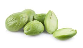 Petai, Bitter Beans isolated on a white background Stock Photos