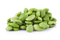 Petai, Bitter Beans isolated on a white background Royalty Free Stock Photo