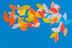 Petal design. On blue background royalty free stock images