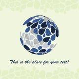 Petal Globe Design Vector Royalty Free Stock Photo