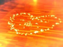 Petal heart Stock Images