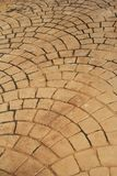 Petal-like brick road Stock Photo