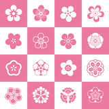 Petal patterns of plum blossom. Some petal patterns set of plum blossom,after the abstraction and artistic processing.Because of the shape is similar (5 petals) Royalty Free Stock Images