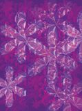 Petal purple. An abstract purple background with the use of flower shapes Stock Images