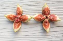 Petal shape cut figs--black genoa gene Stock Image