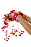 petal się ręka zdjęcia royalty free