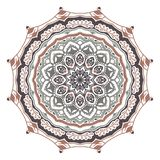 Vector abstract mystical spiky mandala on a white background stock illustration