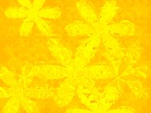 Petal yellow. An abstract yellow background with the use of flower shapes Royalty Free Stock Images