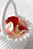 Petali di cerimonia nuziale Immagine Stock