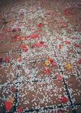 Petali di Rosa e coriandoli di carta Immagine Stock Libera da Diritti