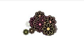 petali selvaggi del fiore della margherita 4k, fioritura della pianta della molla, fondo romanzesco di nozze di amore illustrazione di stock