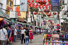 Petaling gata, Kuala Lumpur, Malaysia Arkivbilder