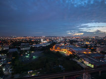 Petaling Jaya dans la soirée Images libres de droits