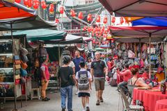 Petaling Street is a chinatown which is located in Kuala Lumpur,Malaysia.It usually crowded with locals as well as tourists. Royalty Free Stock Image
