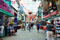 Petaling Street. Kuala Lumpur,Malaysia - February 16, 2014 : Petaling Street is a china town which is located in Kuala Lumpur,Malaysia.It usually crowded with royalty free stock photo