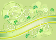Petals clover decoration on a light green backgrou Royalty Free Stock Photo