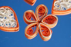 Petals and flower made with paper Royalty Free Stock Image