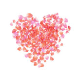 Petals heart Royalty Free Stock Photos