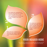 Petals_leaf_bubbles_template_brochure_woman Illustration Stock