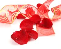 Petals Of Roses And Tape Royalty Free Stock Photography