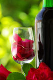 Petals of rose in a  glass . Royalty Free Stock Photo