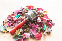 China Tibet Petals turning cylinder Stock Photos