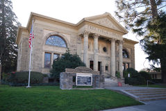 Petaluma Historical Museum Library. Beautiful example of Carnegie Libraries in the United States. This building preserved by the city of Petaluma, California royalty free stock images