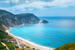 Petani beach, Kefalonia, Greece Royalty Free Stock Photography