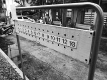 petanque木头记分牌 免版税库存照片